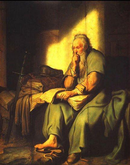 Rembrandt: Pál apostol a börtönben
