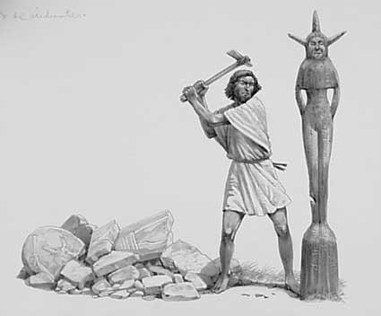 """""""...pusztítsátok el összes bálványukat, és öntött bálványszobraikat is mind pusztítsátok el. Tegyétek tönkre összes áldozóhalmaikat!"""" (4Móz 33,52)"""